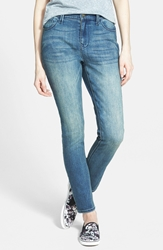 Lee Cooper 'Sadie' High Waist Skinny Jeans Worn Out Blue