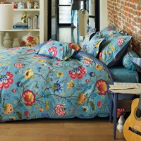 Pip Studio Floral Fantasy Duvet Set Blue Single