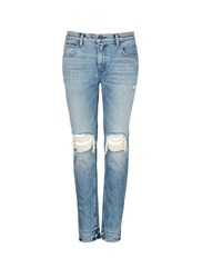 Alexander Wang 'Wang 002' Destroyed Relax Fit Jeans Blue