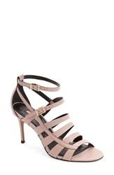 Women's Topshop 'Ninety' Strappy Sandal Pink Leather