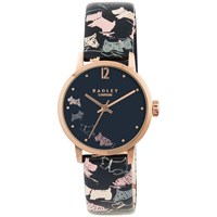 Radley Ry2272 Women's Mini Dogs Leather Strap Watch Navy Multi