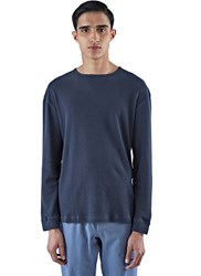 Fanmail Flatlock Woven Thermal Top Navy