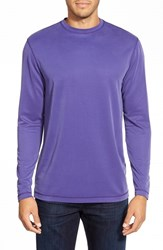 Men's Bugatchi Long Sleeve Knit T Shirt Grape
