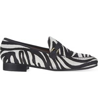 Whistles Melrose Haircalf Loafers Monochrome