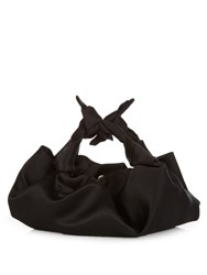 The Row The Ascot Satin Clutch Black