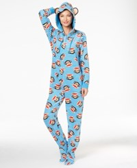Paul Frank Julius Hooded Footed Jumpsuit Blue Stripe
