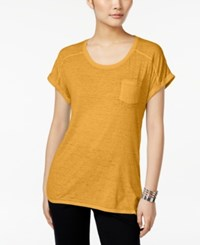 Styleandco. Style Co. Burnout T Shirt Only At Macy's Honey Glaze