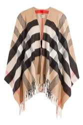 Burberry Shoes And Accessories Printed Cashmere Merino Wool Cape Multicolor
