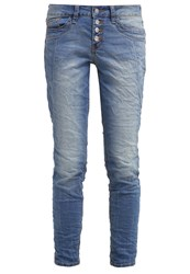 Tom Tailor Relaxed Fit Jeans Destroyed Mid Stone Wash Blue Denim