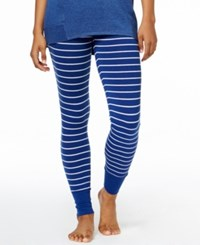 Alfani Printed Pajama Leggings Only At Macy's Navy Stripe