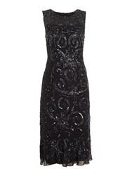 Shubette All Over Sequin Kick Hem Dress Black
