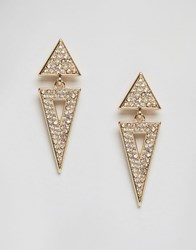 Ny Lon Nylon Gem Embellished Earrings Gold