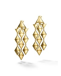 18K Yellow Gold Triangoli Chandelier Earrings Marina B