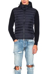 Moncler Maglione Tricot Cardigan In Blue