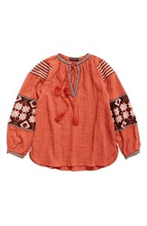 Antik Batik Women's Modi Blouse Rust
