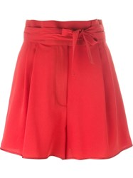 Marc Jacobs Wide Leg Shorts Red