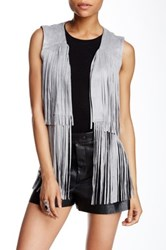 Romeo And Juliet Couture Fringe Vest Gray