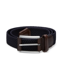 Andersons Anderson's Woven Textile Belt Navy And Brown