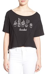 Wildfox Couture Women's Wildfox 'Thelma Stayin' Alive' Graphic Crop Tee