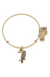 Alex And Ani Women's 'Team Usa Toucan' Expandable Wire Bangle