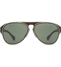 Dries Van Noten Dvn79 Clip On Tortoise Shell Aviator Sunglasses Tortoise Shelland Gold