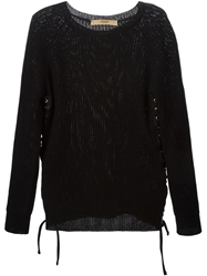 Nuur Side Lace Up Detail Sweater