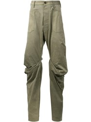 Andreas Kronthaler For Vivienne Westwood 'Boot' Wrap Knee Jeans Green