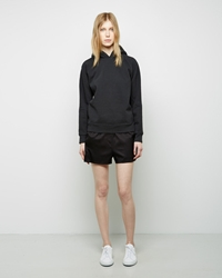 Alexander Wang Silk Twill Ripstop Shorts Black