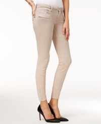 Guess Power Zip Detail Overdye Wash Skinny Jeans