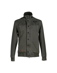 Italian Rugby Style Coats And Jackets Jackets Men Military Green