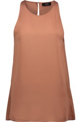Theory Kalstinn Silk Tank Antique Rose