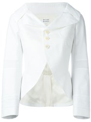 Shiro Sakai Fitted Embroidered Jacket White