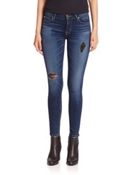 Hudson Nico Distressed Super Skinny Jeans Tipping Point