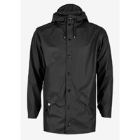 Rains Women's Black Hooded Mac