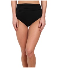 Kamalikulture By Norma Kamali Shirred Bottom Black Women's Swimwear
