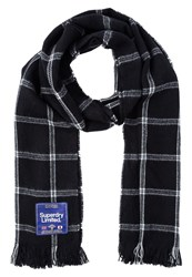 Superdry Capital Scarf Black White