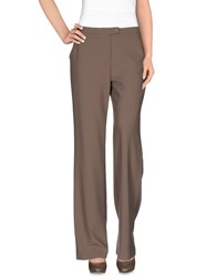 St. John Trousers Casual Trousers Women Light Brown