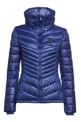Blauer Wave Quilted Down Jacket Blue