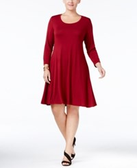 Styleandco. Style Co. Plus Size Swing Dress Only At Macy's Deep Scarlet