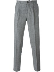 Brunello Cucinelli Tailored Tweed Trousers Black