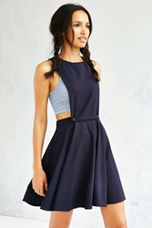 Cooperative Open Side Apron Fit Flare Dress Navy