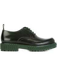 Valentino Garavani Thick Sole Oxford Shoes Green