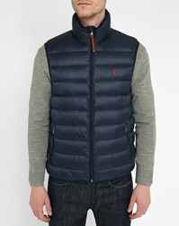 Polo Ralph Lauren Navy Light Sleeveless Down Jacket Blue