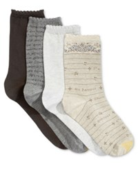 Gold Toe Women's 4 Pk. European Cafe Socks Khaki