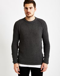 Only And Sons Mens Knitted Crew Neck Jumper Grey