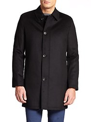 Saks Fifth Avenue Wool And Cashmere Coat Charcoal