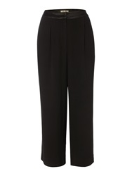 Biba Tailored Satin Back Cropped Trousers Black
