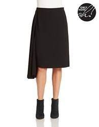 424 Fifth Solid Asymmetric Skirt Black