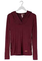 Khujo Nadja Long Sleeved Top Washed Wine Bordeaux