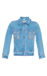 Manoush Beautiful Heart Denim Jacket Medium Wash